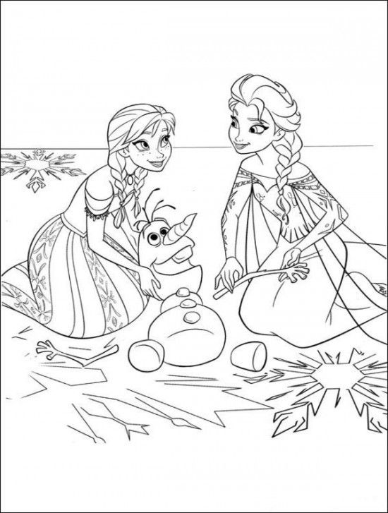 15 Free Disney Frozen Coloring Pages | Emily and Hannah | Colores ...