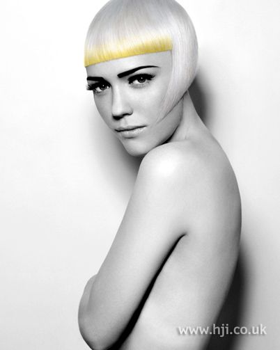 Ashley Gamble BHA Newcomer6 hairstyle    Hair was cut into a classic bob shape, with a short fringe and longer layers framing the face.     Hairstyle by: Ashley Gamble  Salon: Royston Blythe  Location: Wolverhampton