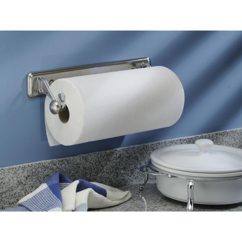 Under The Cabinet Paper Towel Holder Interesting York Lyra Wall Mount Paper Towel Holder In Split Finish Steel Decorating Inspiration