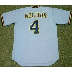 dd3ac28ad PAUL MOLITOR Milwaukee Brewers 1982 Majestic Cooperstown Throwback Away  Jersey