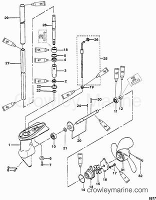 Gear Housing Assembly 2 2 5 Hp Mercury Outboard Mercury Outboard