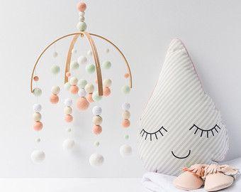 Blanc Mobili ~ Mobile chambre d enfant blanc mobile bébé blanc mobile de lit de