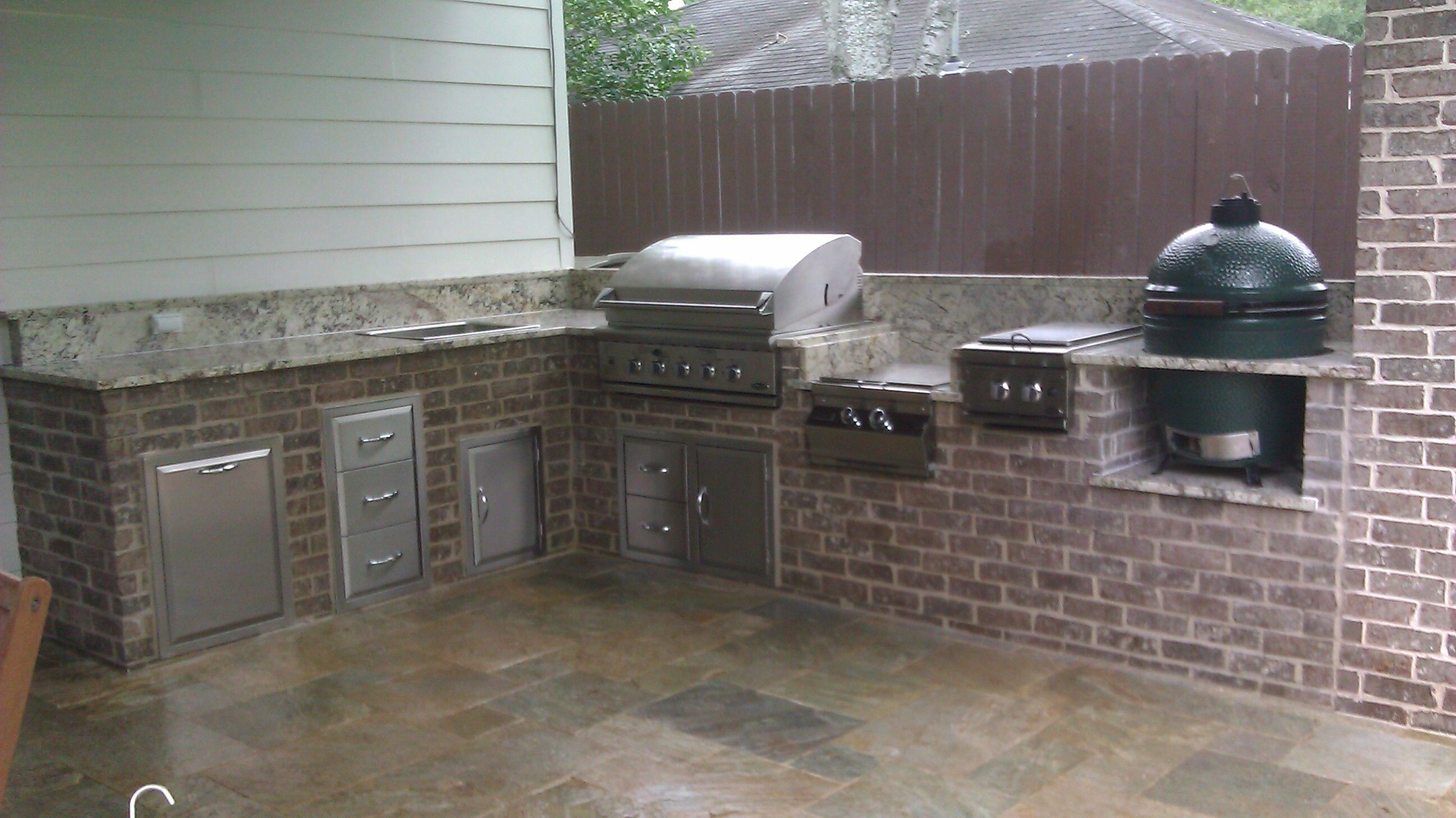 Diy Outdoor Kitchen With Green Egg And Grill   Yahoo Image Search Results