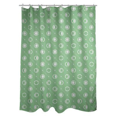 Artverse Noira Gothard Classic Moon Phases Single Shower Curtain Colour Green White Colorful Curtains Shower Liner Curtains