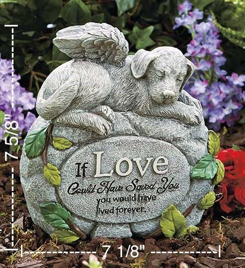(B) Pet Memorial Garden Statue   Indoor/Outdoor Dog Memorial Statue  #Unbranded
