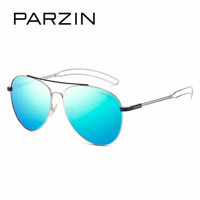 PARZIN Classic Pilot Polarized Sunglasses For Driving Fashion Hollow Legs Alloy  Frame Mirror Coating Lens Pilot 4b8d649b84de