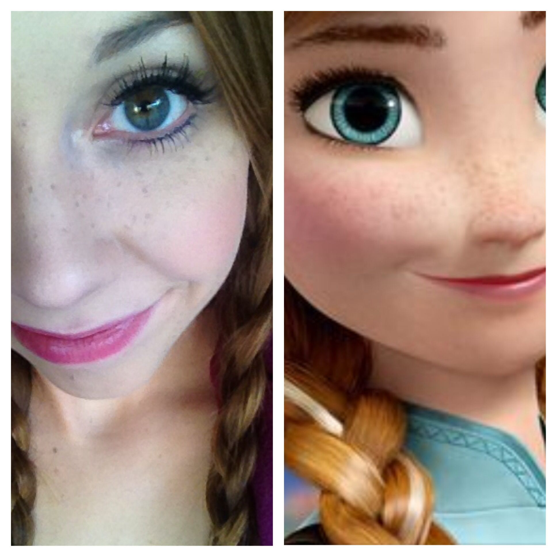 Anna frozen makeup look a touch of pixie dust pinterest anna frozen makeup look baditri Image collections