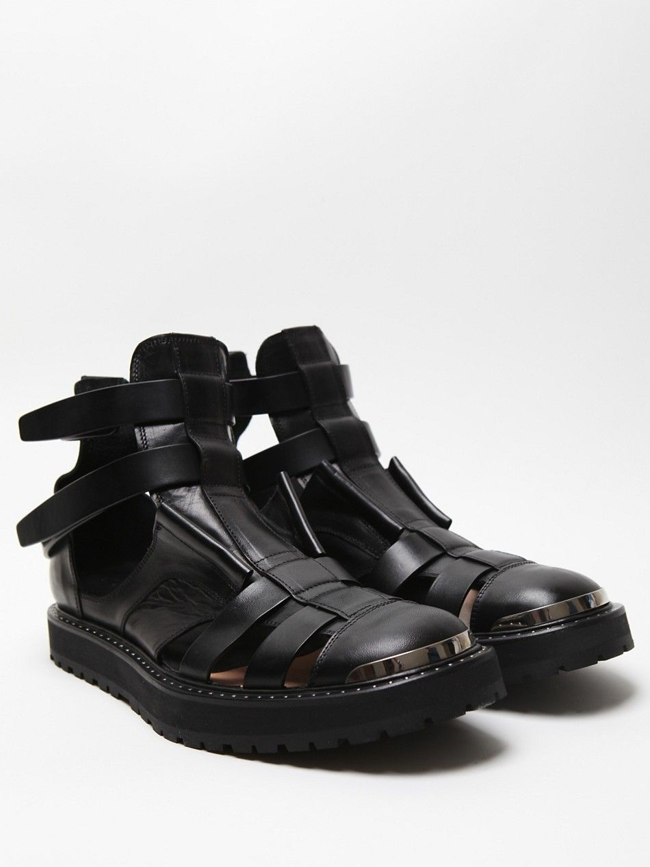 Neil Barrett Men s Hybrid Jelly Boot Sandal in black   x y ... b4174c6c7963