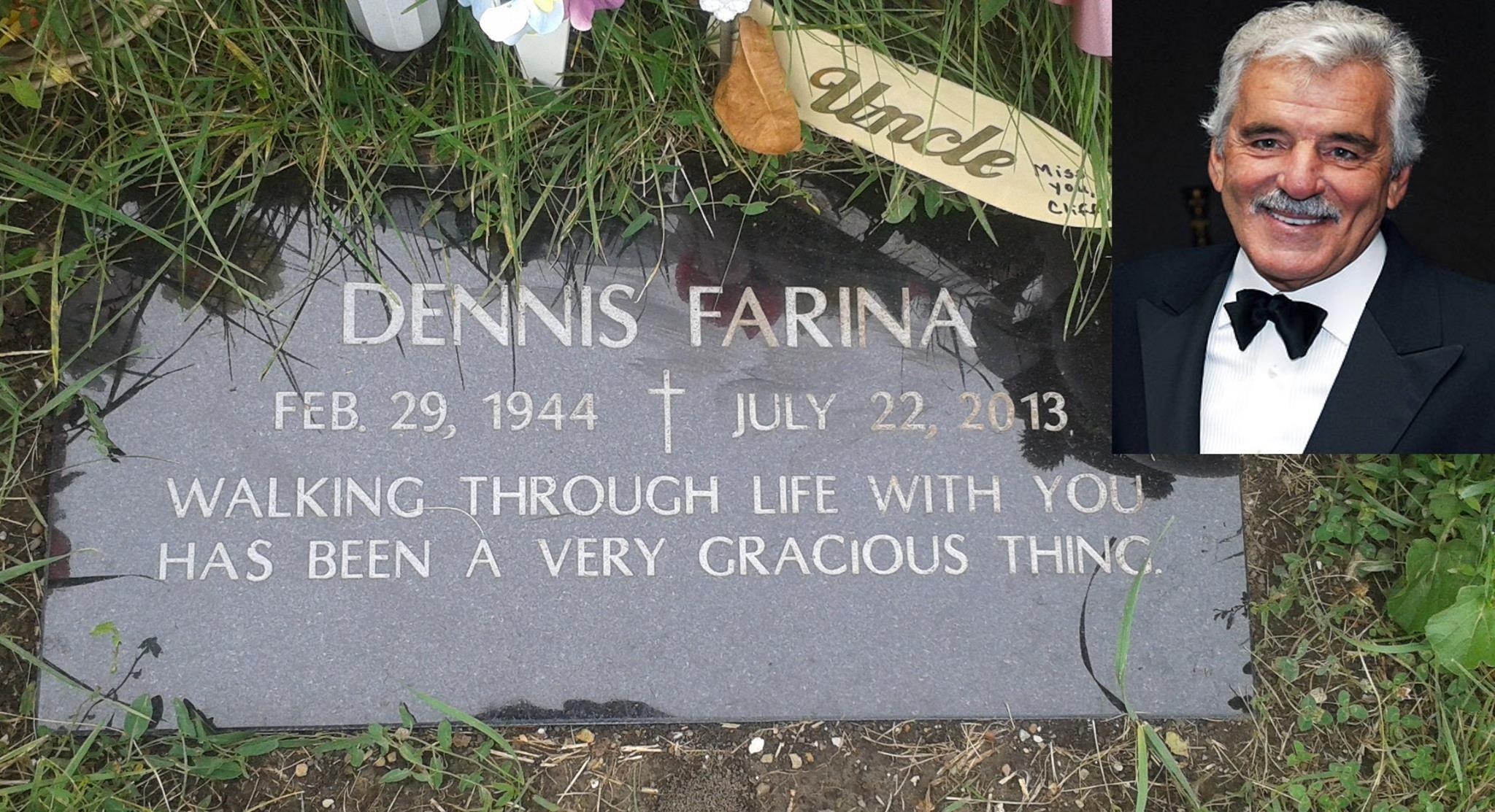 Dennis Farina (February 29, 1944 – July 22, 2013) He was a
