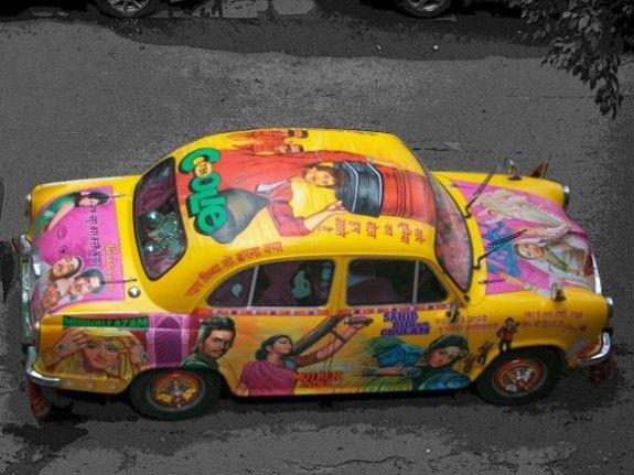 Bollywood Taxi Art