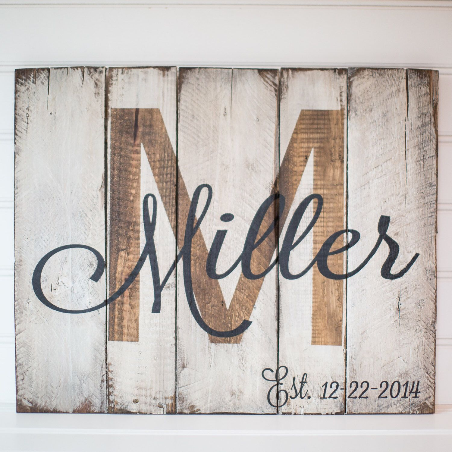 wood craft signs ideas last name with est date rustic wooden sign made from 5757