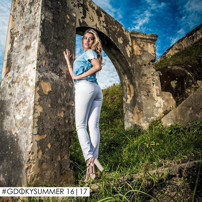 Gdoky Jeans Fortress Island: Explore o melhor de si, use Gdoky! #Whitepants #powerdenim #Summer