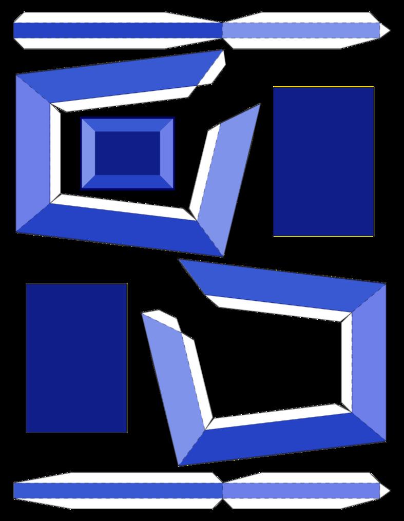 Blue Zircon Papercraft Template By Portadorx Zircon Paper