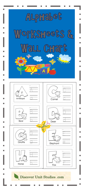 Are you looking for  fun and easy way to introduce your child the alphabet have making an wall chart discoverunitstudies also rh pinterest