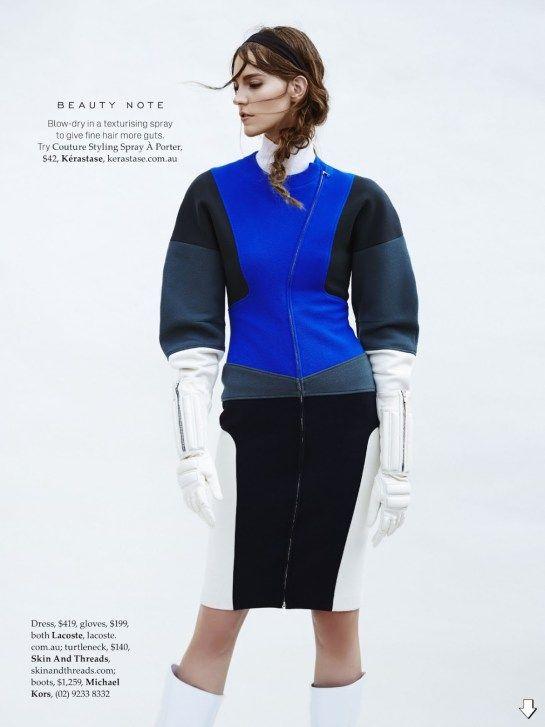 Nicole Pollard by Georges Antoni for Elle Australia July 2014