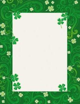 20+ Cute St Patrick's Day Frame Clipart
