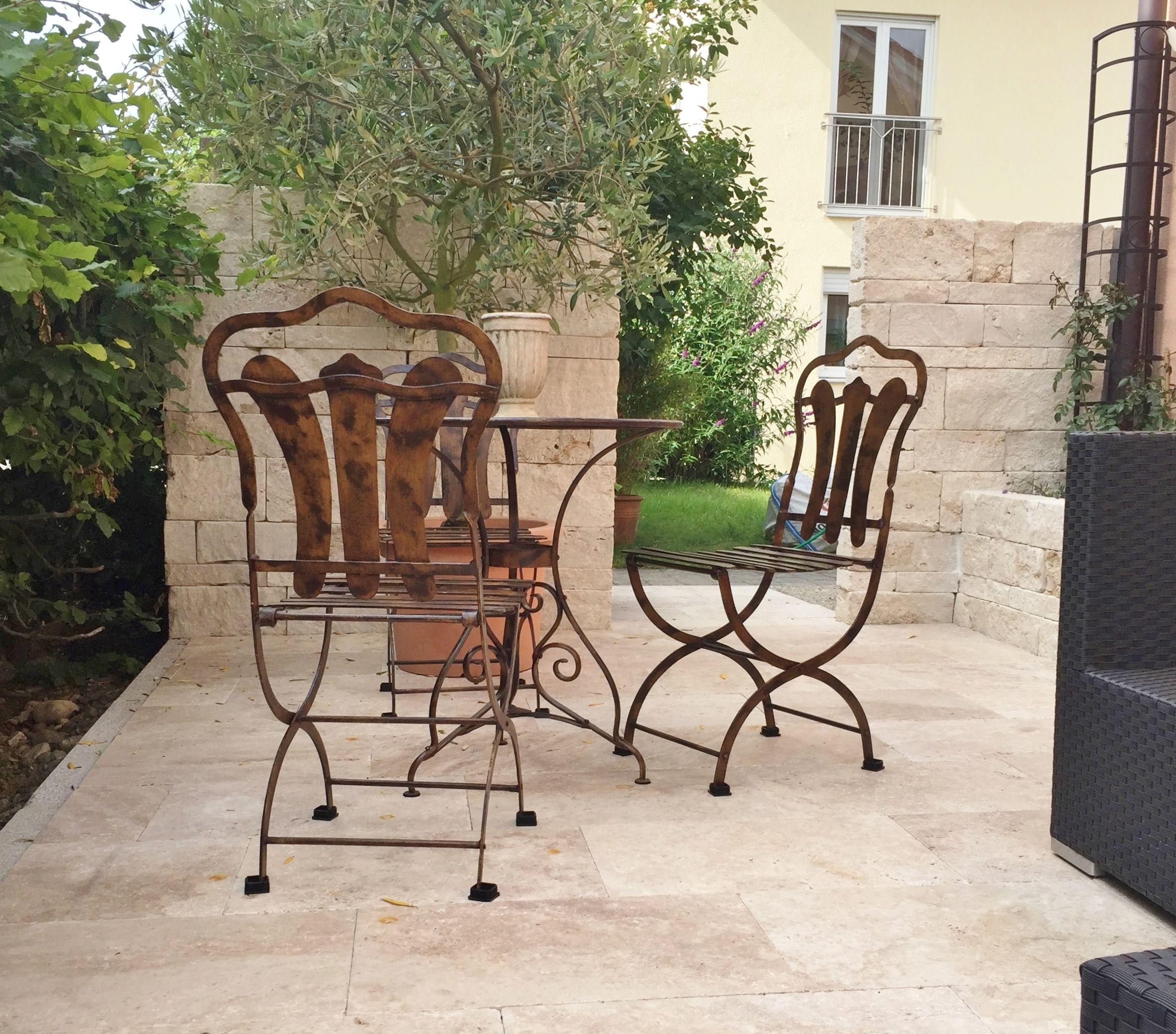 Travertin Terrassenplatten eine schöne travertin mauer passend dazu travertin terrassenplatten