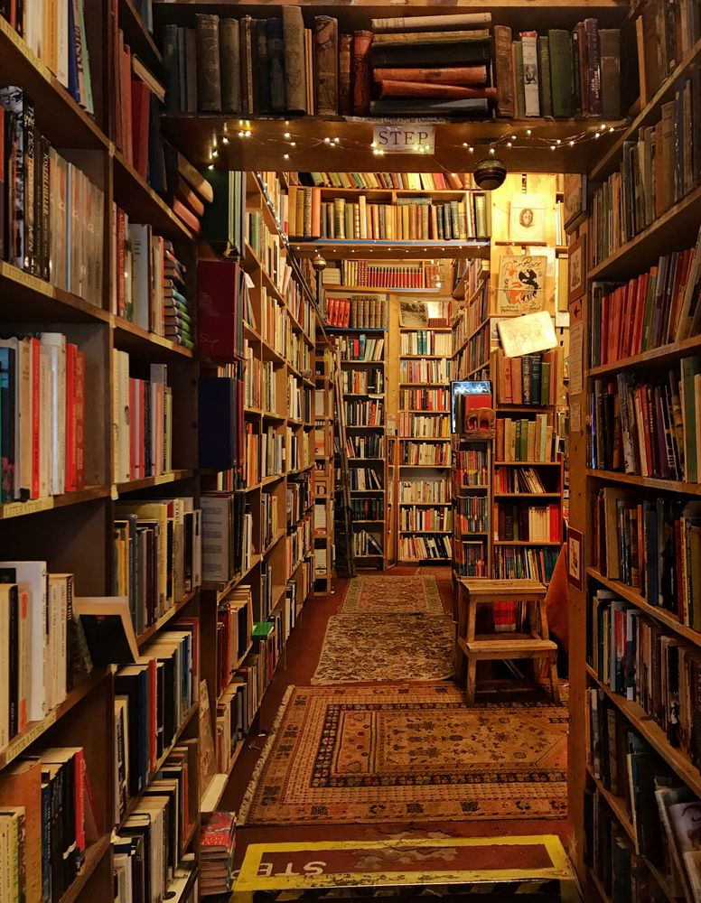 Warm & cozy bookshop in Scotland Mini Art Print by Samdaytripper - Without Stand - 3
