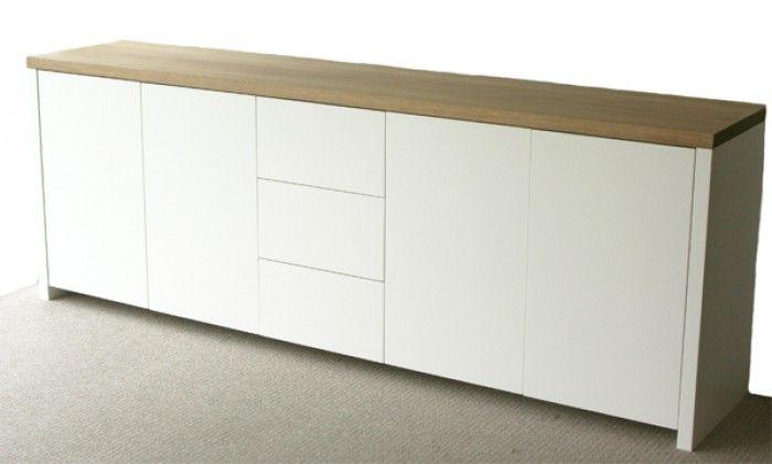 Mooi wit dressoir met houten blad    Home ideas   Pinterest   Dresser