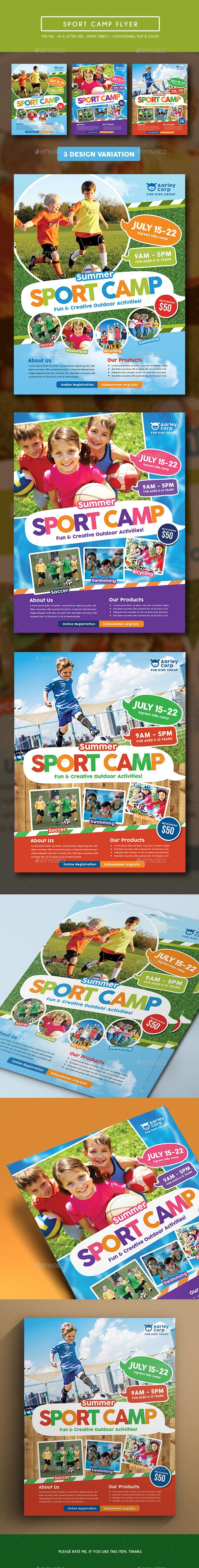 Sport Camp Flyer  Flyer Template Template And Camping