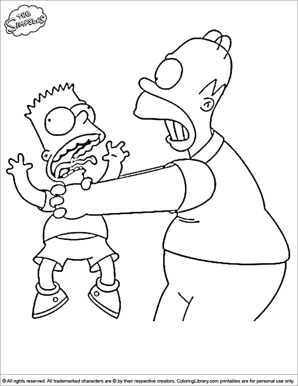 Simpsons coloring page | my personal adult-ish coloring book ...