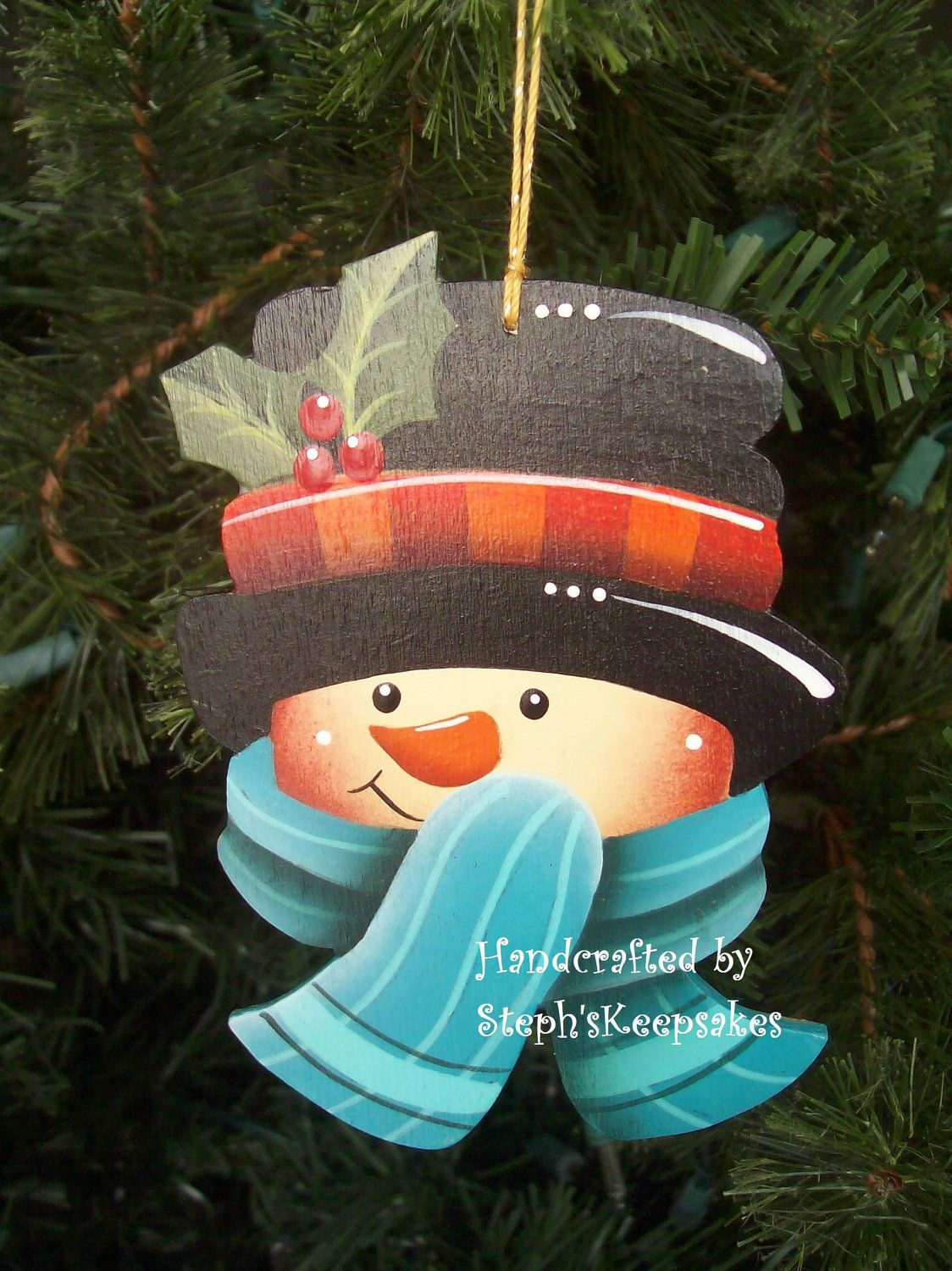 wooden hand painted snowman ornament painted snowmen 2 snowman ornaments wooden christmas. Black Bedroom Furniture Sets. Home Design Ideas