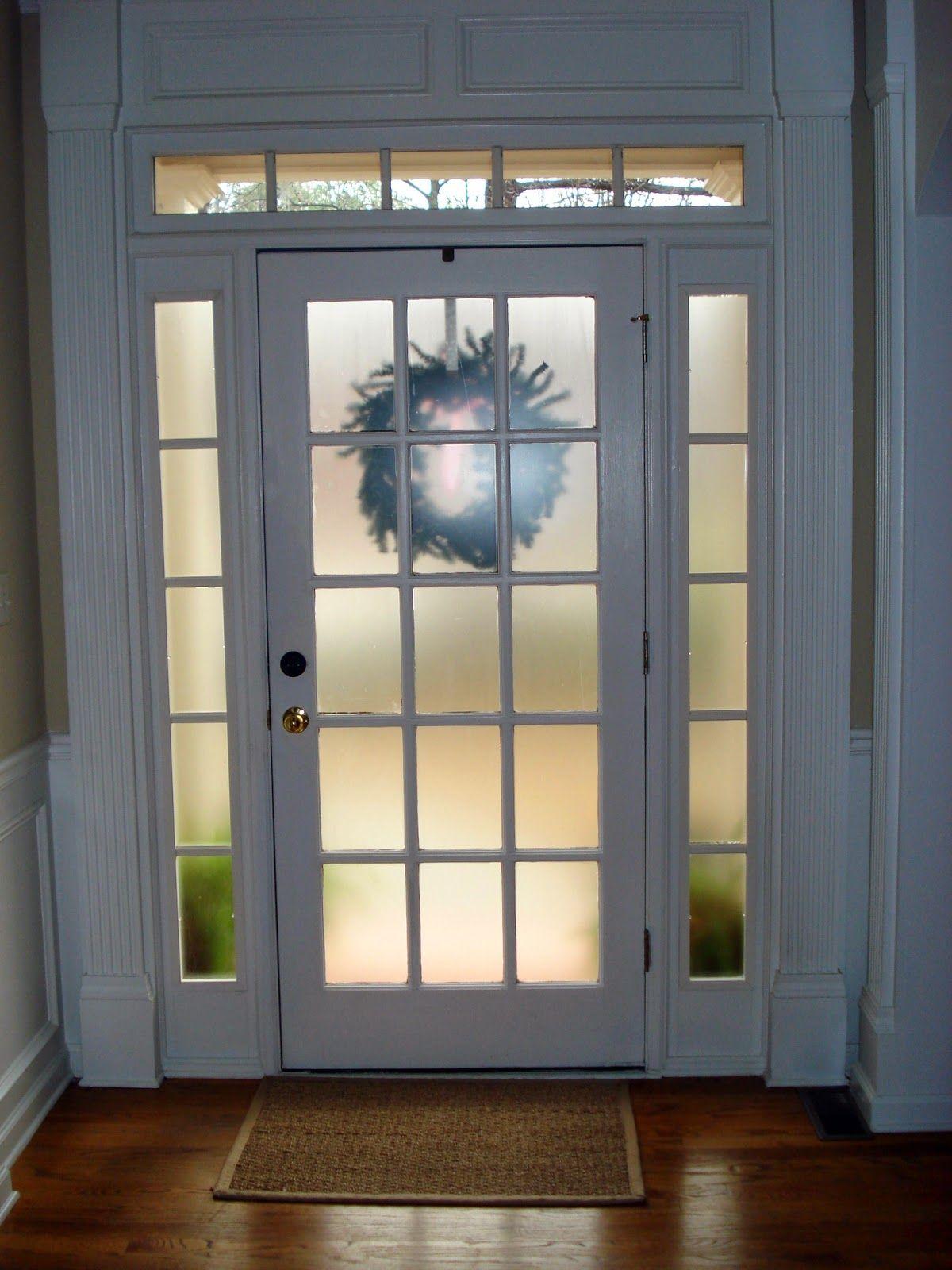Before Meets After How To Make Your Front Door More Private Door Glass Inserts Front Doors With Windows Exterior Doors