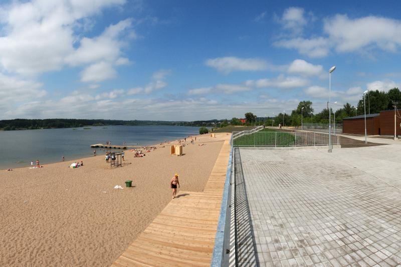 Get A Proper Tan In Kaunas While Visiting Popular Within Local People Lampėdziai Beach Beach Kaunas Outdoor