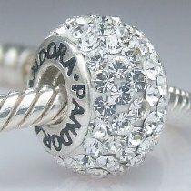 Sterling Silver Pandora Style & Inspired Swarovski Crystal Charm ...