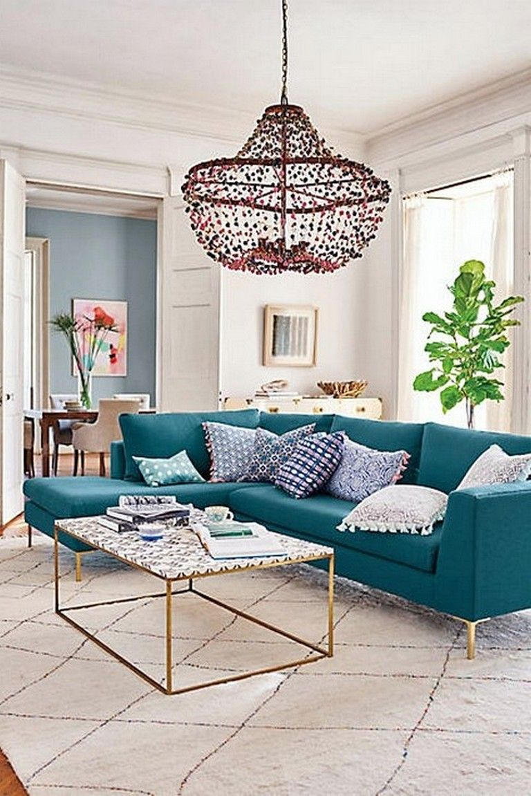 77 prime ideas to decorate your living room with turquoise