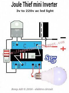 Joule Thief Mini Inverter Elektronik Keren Rangkaian Elektronik Listrik