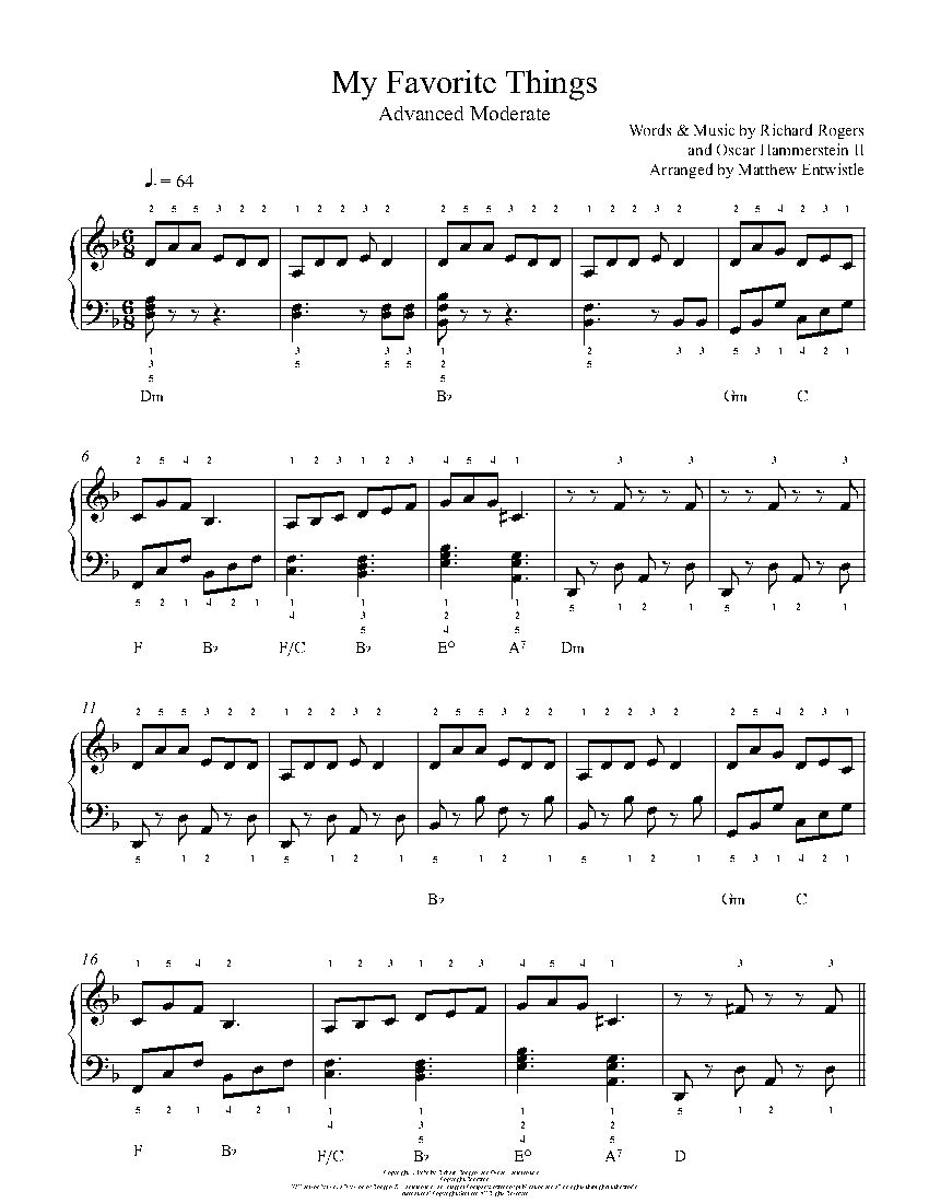 My favorite things by rodgers and hammerstein piano sheet music my favorite things by rodgers and hammerstein piano sheet music advanced level hexwebz Gallery