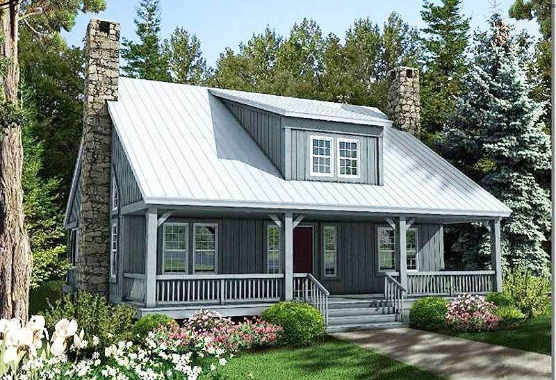 Plan 58555sv Country Home Plan With Big Front And Rear Porches In 2021 Country House Plans Cottage House Plans House Plans