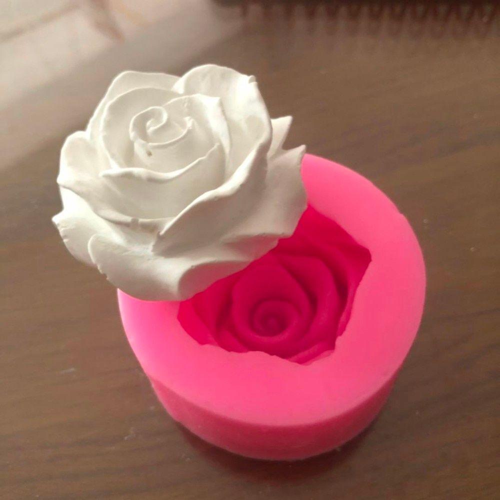 """Flower Bloom Rose shape Silicone Fondant Soap 3D Cake ..."