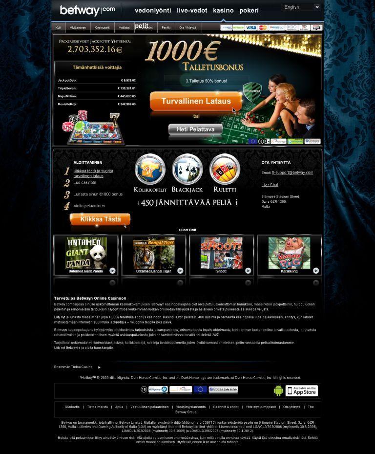 Betway Casino Arvostelu