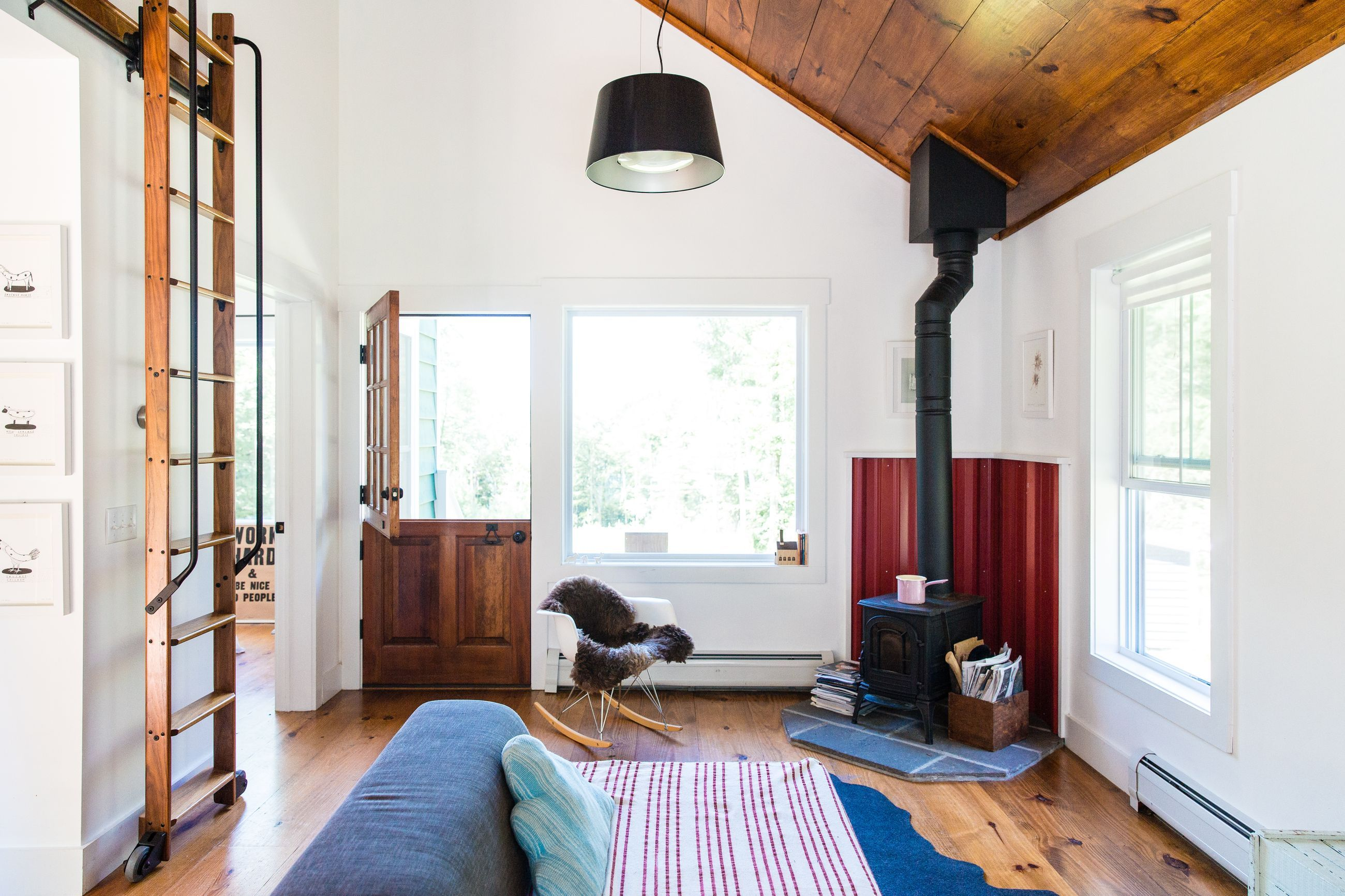 A tiny cabin in an all-American town offers a designer respite ...