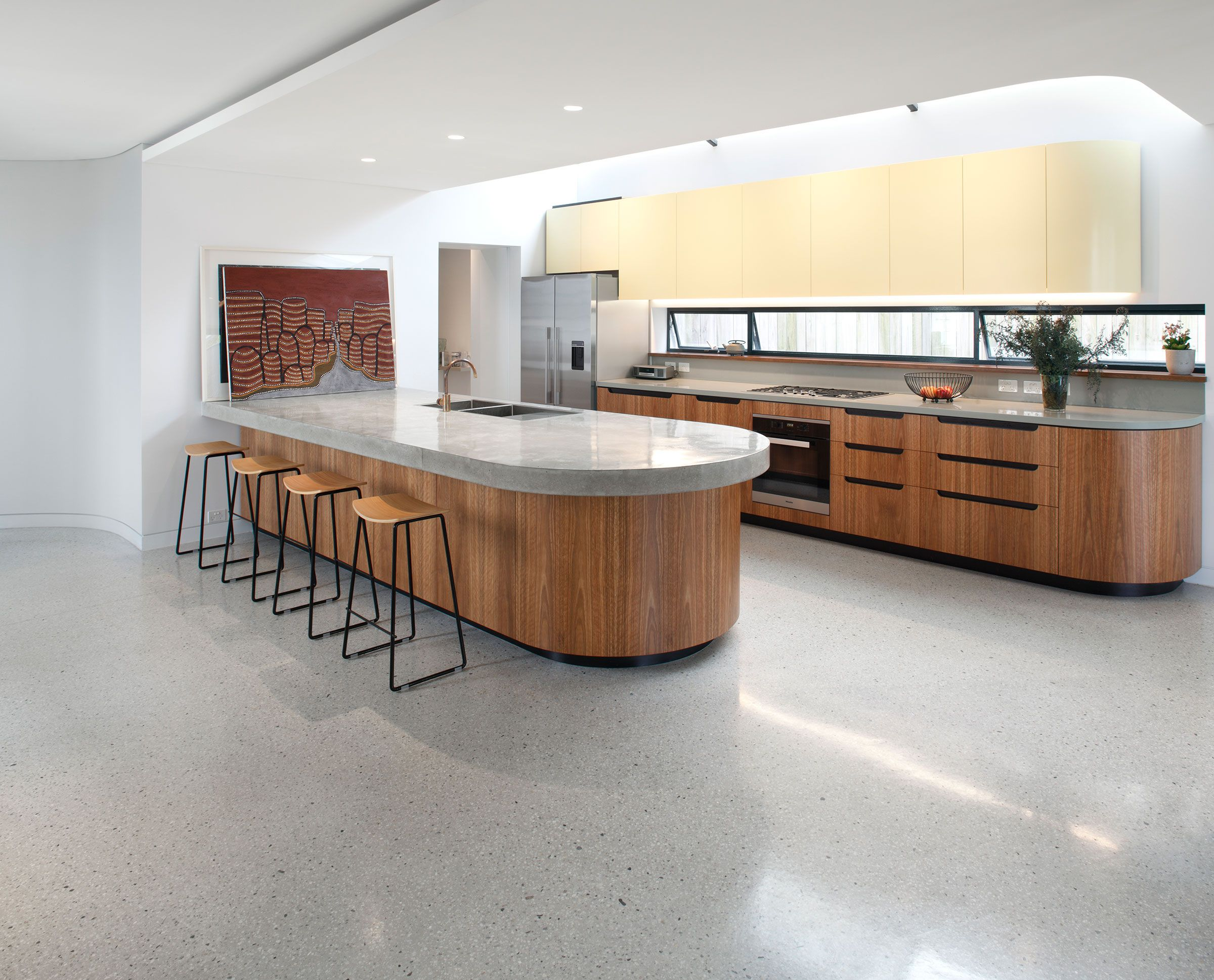 polished concrete flooring concrete floors for kitchen