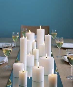 The Magic Of Candlelight Candle Centerpieces Non Floral Centerpieces Candles