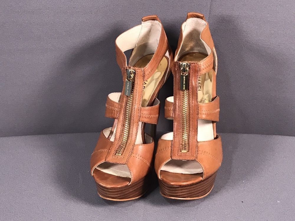 fd8e8a7ec92 Michael kors berkley brown strap platform 5