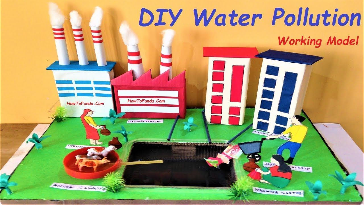 Water Pollution Working Model For School Science Exhibition Science Fair Project Howtofunda Fair Projects Science Fair Projects Science Fair