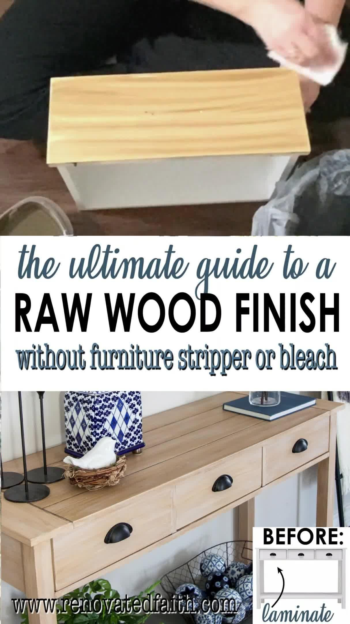 Easiest Raw Wood Finish with Paint (No Stripping or Bleaching Required)