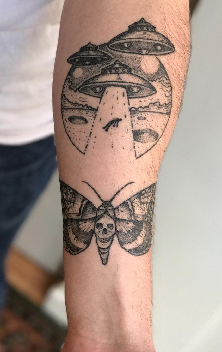 alien spaceship tattoos - 736×1165