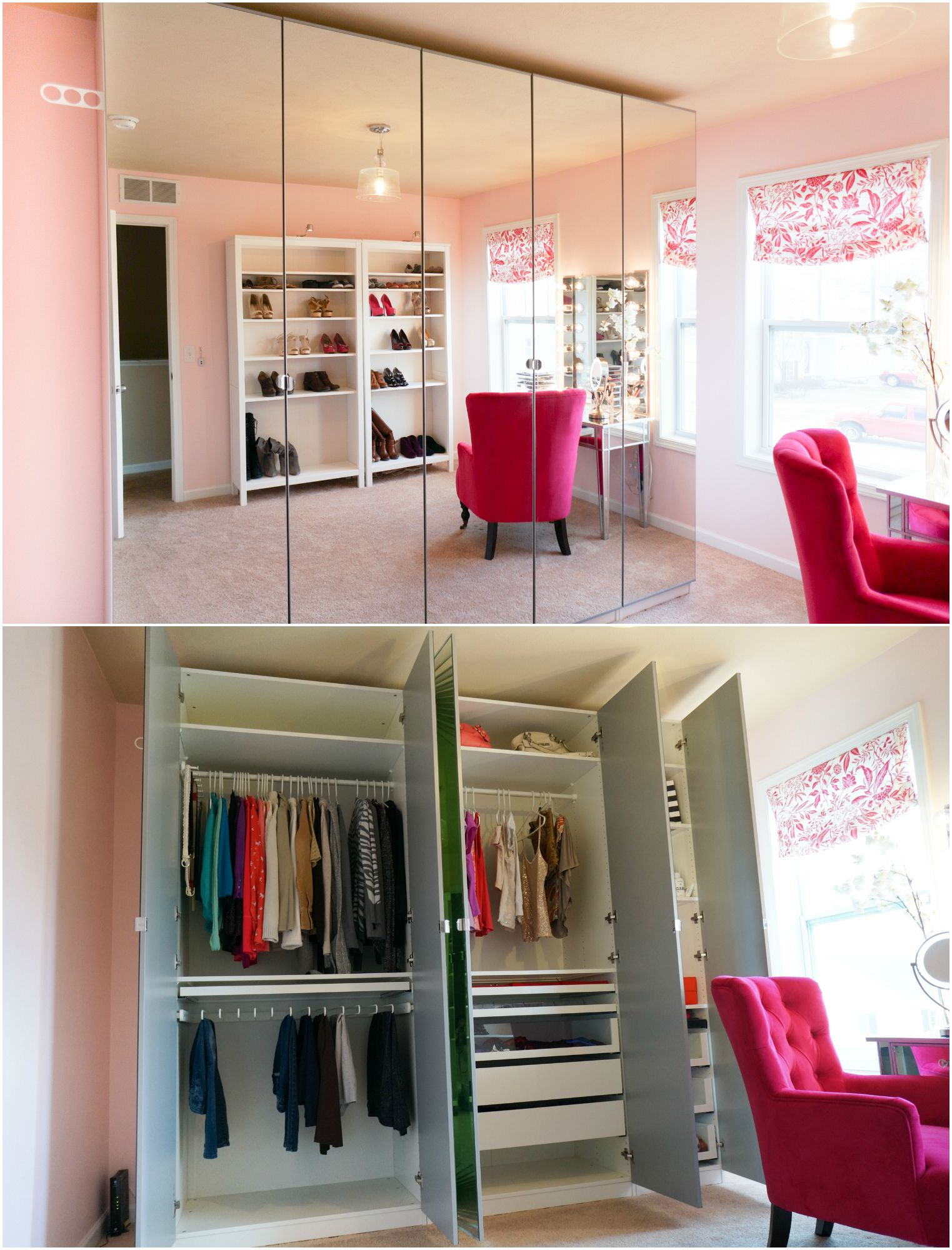 IKEA PAX mirrored wardrobe in 2020 Walk in closet ikea