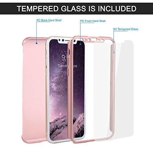 huge selection of 2c577 5d409 iPhone X Case, iPhone 10 Case, VANSIN 360 Full Body Protection Hard ...