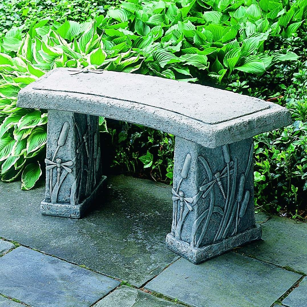 Dragonfly Curved Cast Stone Garden Bench | Products | Pinterest ...