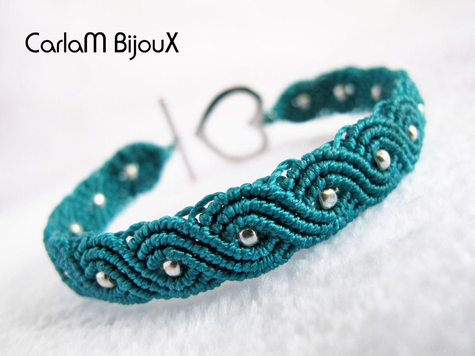 carlam bijoux: pulsera ochos micro-macramé | makrame | pinterest