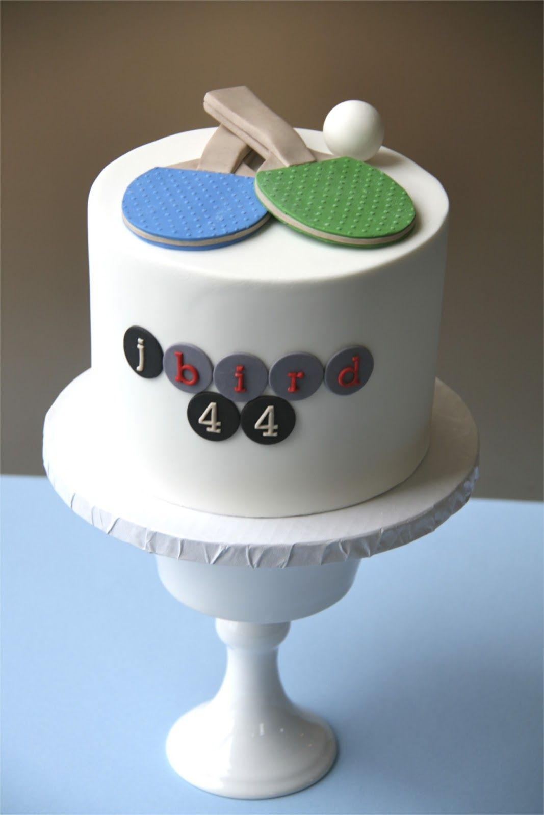 Ping Pong Cake The Paddles Look Great Tennis Cake Cake Table Birthday Cake