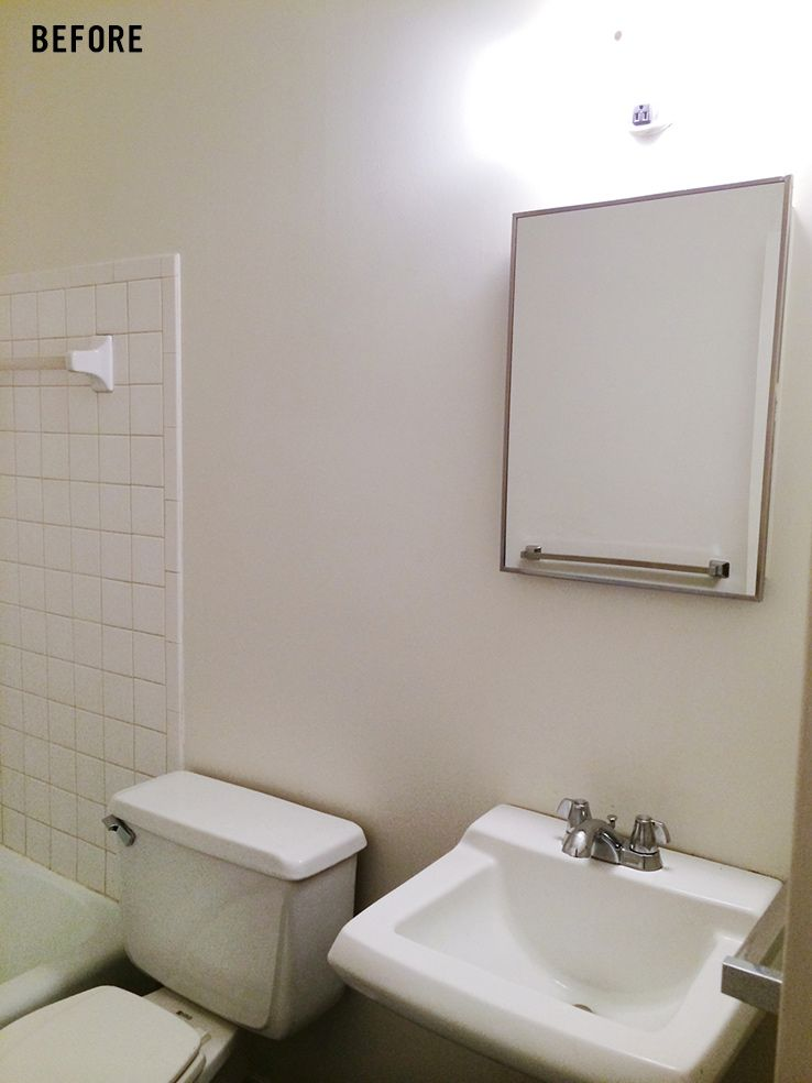 rental apartment bathroom ideas. rental bathroom makeover by meg biram apartment ideas e