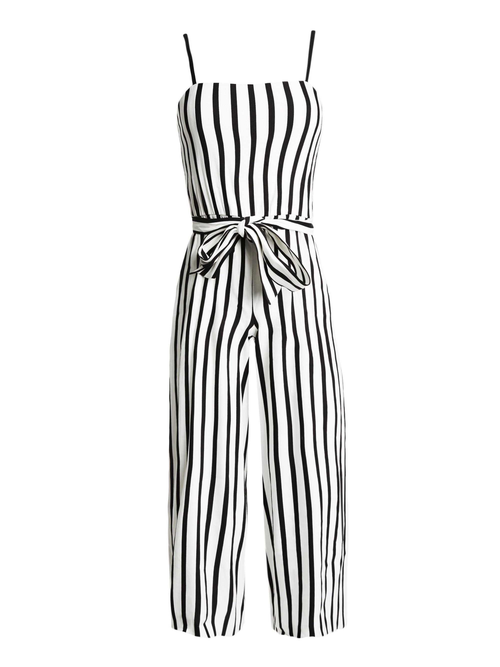 7b80b951174 Alice + Olivia Lucie Spaghetti Stripe Gaucho Jumpsuit - 12 ...