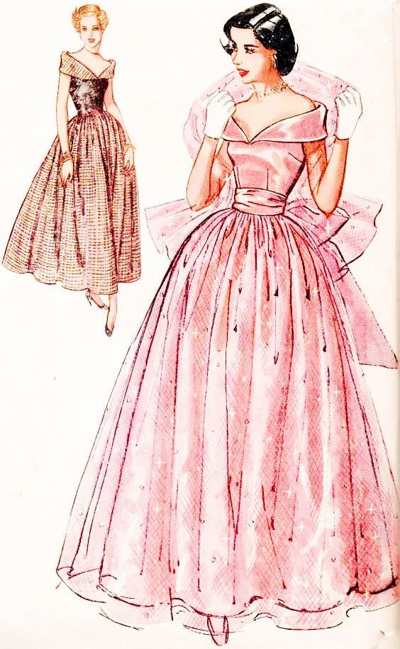 Simplicity party dress pattern. | Vintage fashion | Pinterest ...